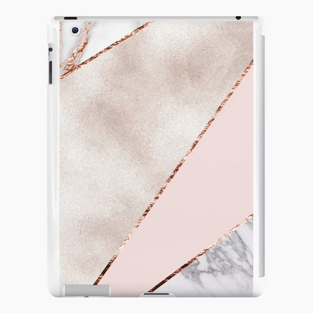 Spliced mixed rose gold marble iPad Cases & Skins