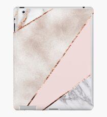 Gespleisst gemischter Roségoldmarmor iPad-Hülle & Klebefolie