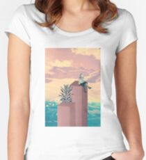 Collage Art Women's Fitted Scoop T-Shirt