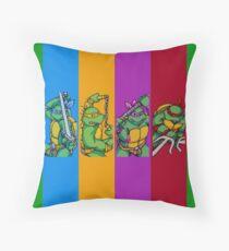 TMNT Rainbow, Pixel Arcade Edition Throw Pillow