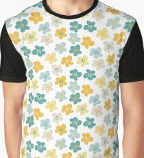 Green & Yellow Flowers Graphic T-Shirt
