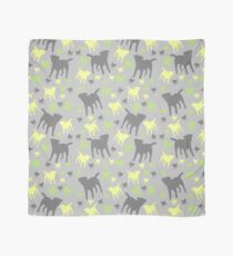 Border Terrier Gifts For Dog Lovers Grey Yellow Green Silhouette Scarf