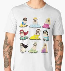 Pug Princesses Men's Premium T-Shirt