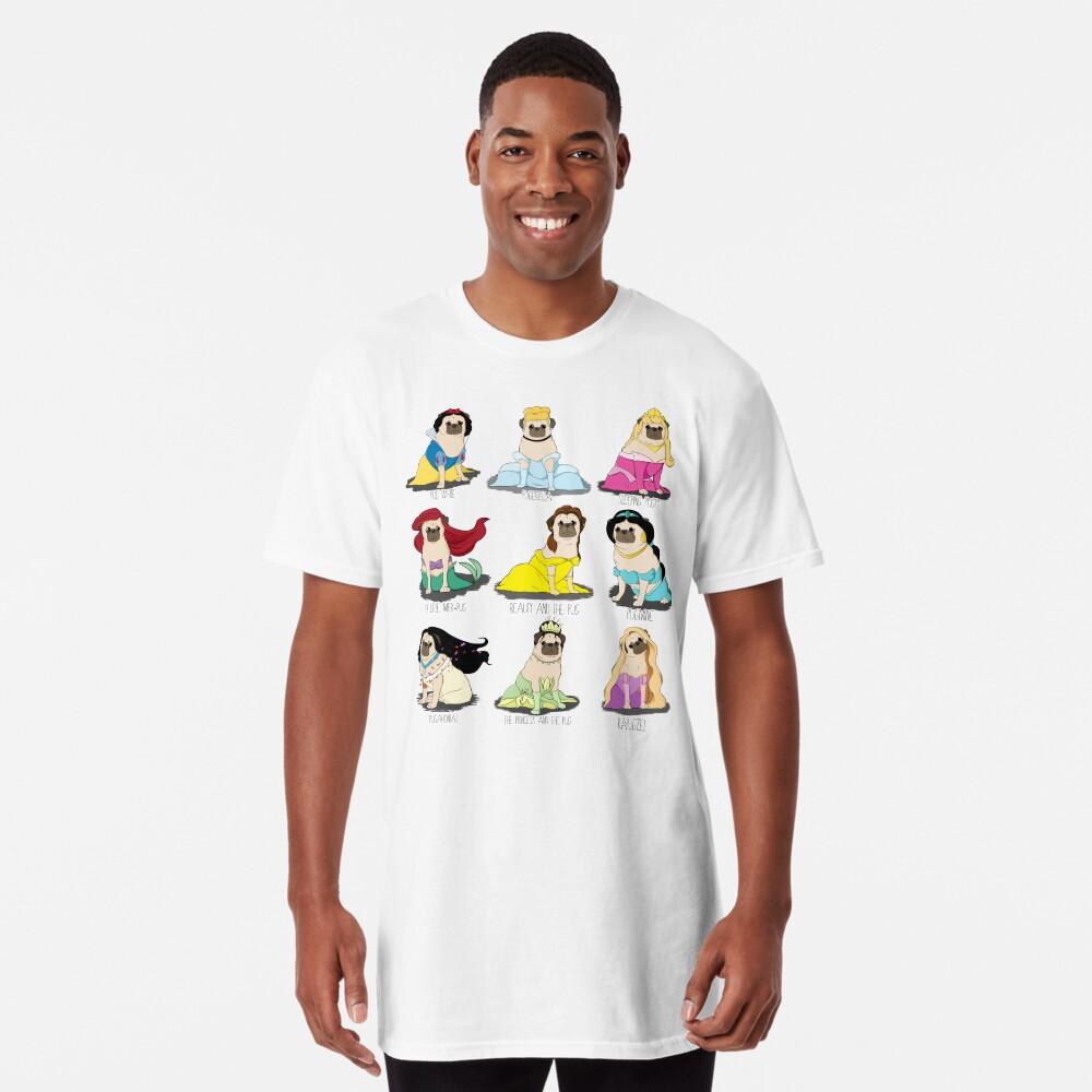 Camiseta largaPrincesas Pug Delante