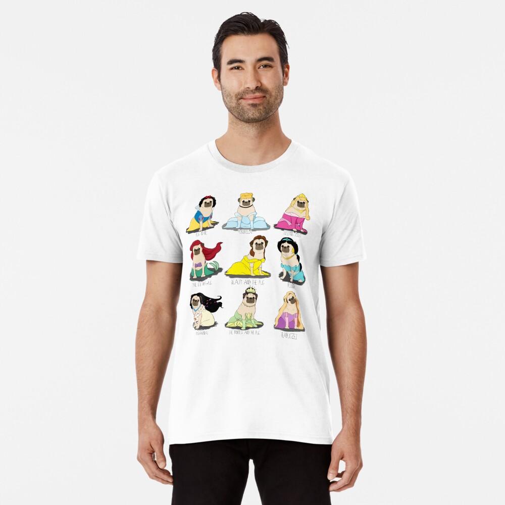 Mops Prinzessinnen Premium T-Shirt