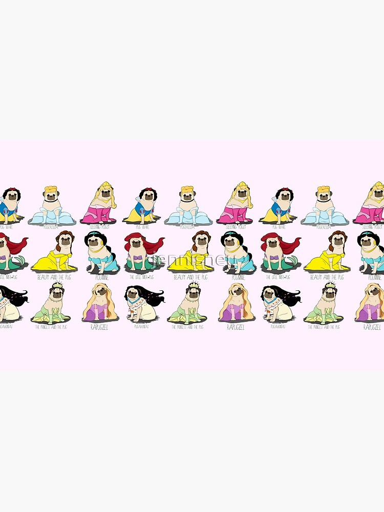 Pug Princesses by jennisney
