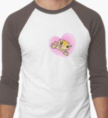"""""""I Love My Crestie"""" Cute Crested Gecko Heart Men's Baseball ¾ T-Shirt"""