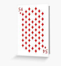 54 Diamonds - Poker & Magic Greeting Card