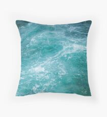Jade Sea Throw Pillow