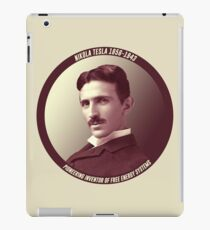 Nikola Tesla - Pioneering Inventor of Free Energy Systems iPad Case/Skin