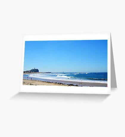 Beach to Nobbys Greeting Card