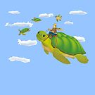 Flying turtles by Airmatti