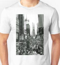 times square black new york city T-Shirt