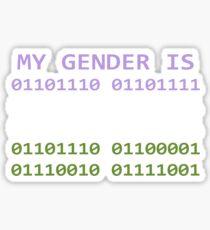 My Gender is Non-binary Sticker