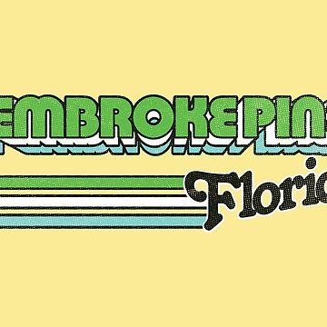 Pembroke Pines, FL | City Stripes by retroready