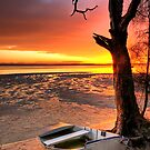 Sunset Bribie Island by Annette Blattman