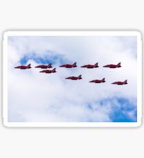 Red Arrows in formation Sticker