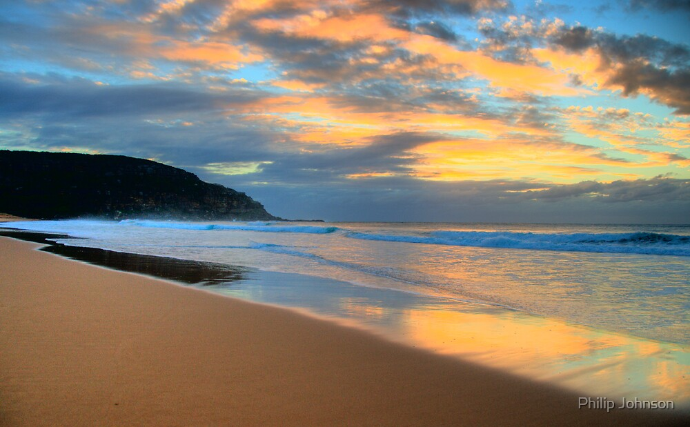 Reflections of Day To Come - Palm Beach - Sydney Beaches - The HDR Series by Philip Johnson