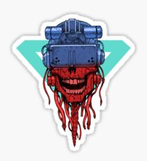 cyber punk skull Sticker