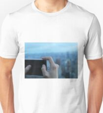 smartphone and new york city , landscape, sunset T-Shirt