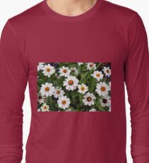 Natural background with white flowers and green leaves  T-Shirt
