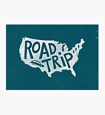 Road Trip USA - blue Photographic Print