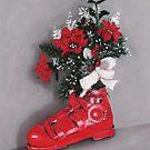Christmas Ski Boot by Anastasiya Malakhova