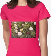 Beautiful white large flowers in the garden  T-Shirt