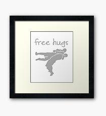 Wrestling - Free Hugs Framed Print
