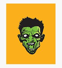 green zombie scream!!! Photographic Print