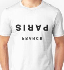 Paris, France Minimalist Upside-Down - Trendy/HipsterTypography Unisex T-Shirt