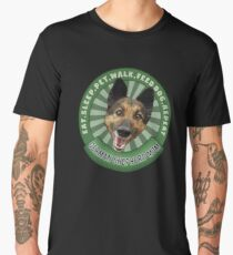 German Shepherd Mom Eat Sleep Dog Repeat Men's Premium T-Shirt