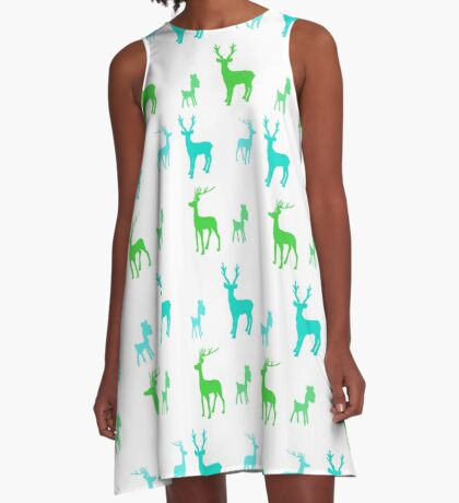 AFE Reindeer Pattern A-Line Dress