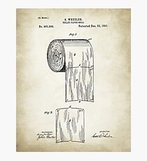 Toilet Paper Patent  Photographic Print