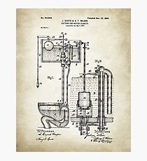 Toilet Cistern Patent Poster Photographic Print
