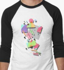 Retro 80s Geometric Men's Baseball ¾ T-Shirt