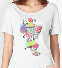 Retro 80s Geometric Women's Relaxed Fit T-Shirt