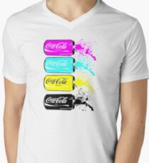 Coca Cola Men's V-Neck T-Shirt