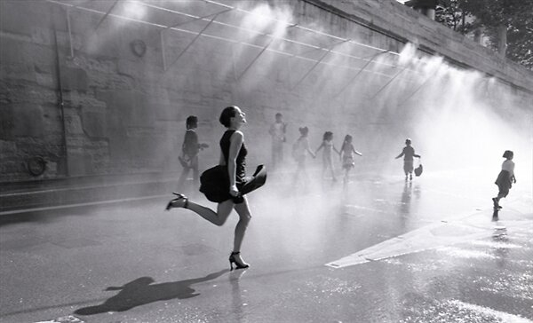 Running Through Water by californiagirl