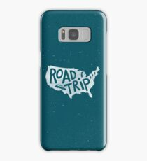Road Trip USA - blue Samsung Galaxy Case/Skin