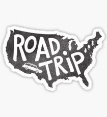 Road Trip USA - blue Sticker