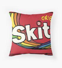 Skittles Illustration Throw Pillow