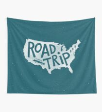 Road Trip USA - blue Wall Tapestry