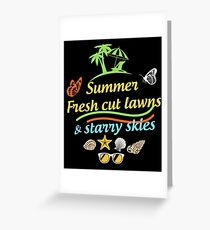 SUMMER FRESH CUT LAWNS Greeting Card