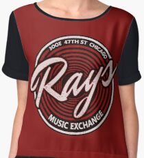 Blues Brothers - Rays Music Exchange Women's Chiffon Top