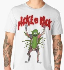 Pickle Rick Shoot Red Men's Premium T-Shirt