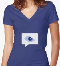 Internet is watching you! Women's Fitted V-Neck T-Shirt