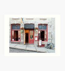 Old Quebec: Early Morning Café Art Print