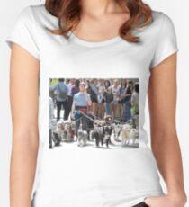 Daniel Radcliffe Walking Dogs Women's Fitted Scoop T-Shirt