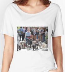 Daniel Radcliffe Walking Dogs Women's Relaxed Fit T-Shirt